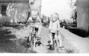 George and Bill at Green Farm in early 1950s
