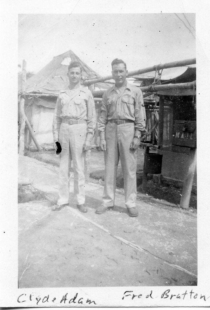 Clyde Adam & Fred Bratton in India