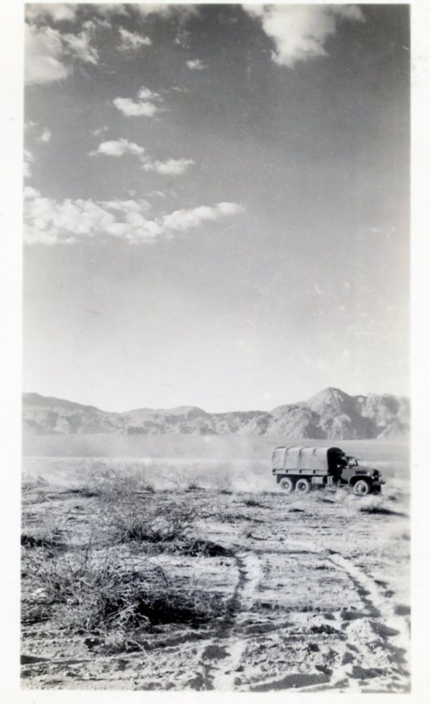 Desert Maneuvers near Indio CA, 1942