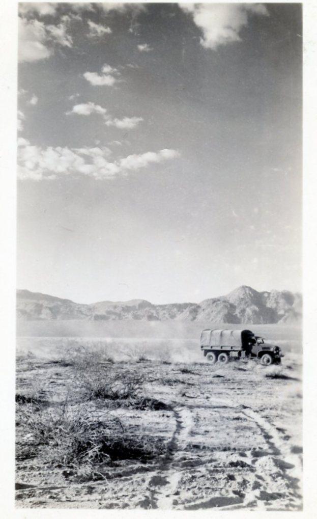 Desert Maneuvers near Indio CA, 1942