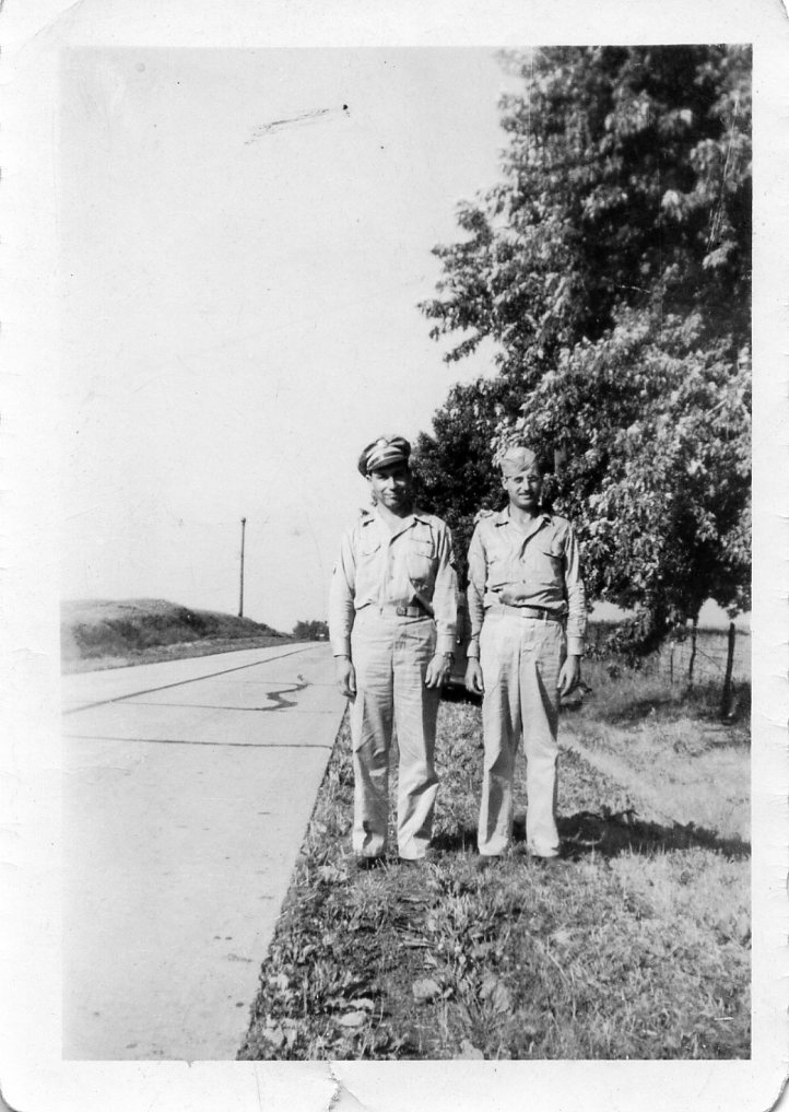 Fred Bratton & Clyde Adam stateside in 1945