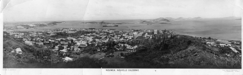 Noumea, New Caledonia visited by Clyde Adam en route to India 1943