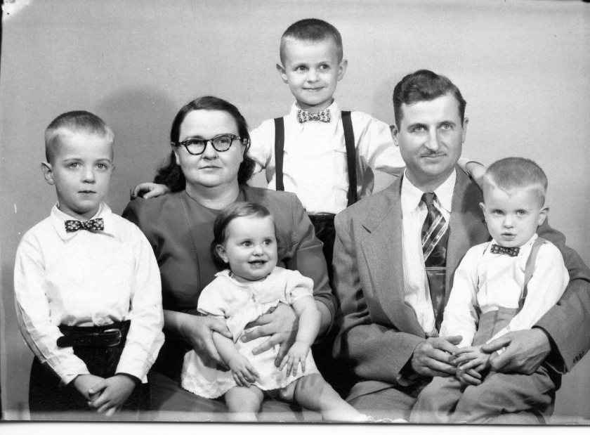 Clyde & Dorothy Adam Family 1955