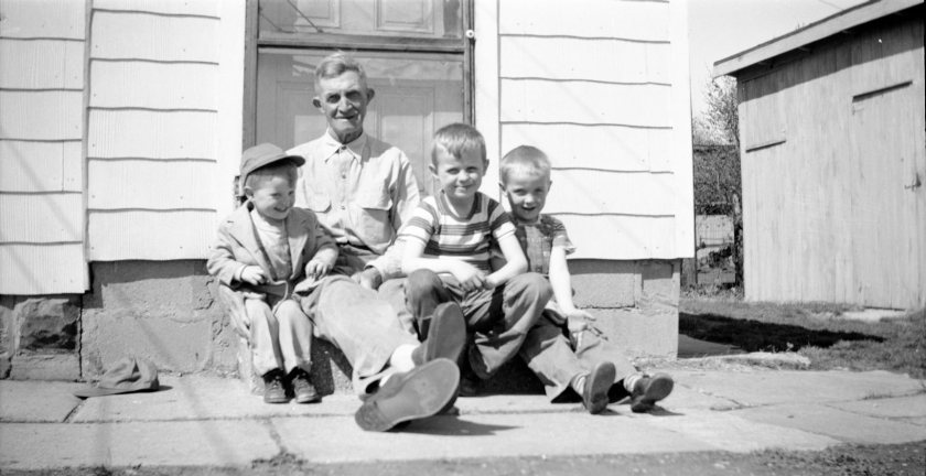 Grandpa George & his grandsons
