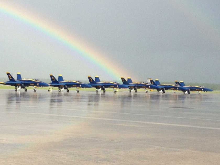 blue angel rainbow