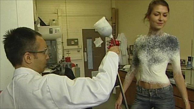 spray on clothing