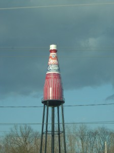 catsup bottle water tower