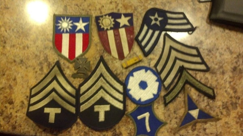 Dad's military insignia