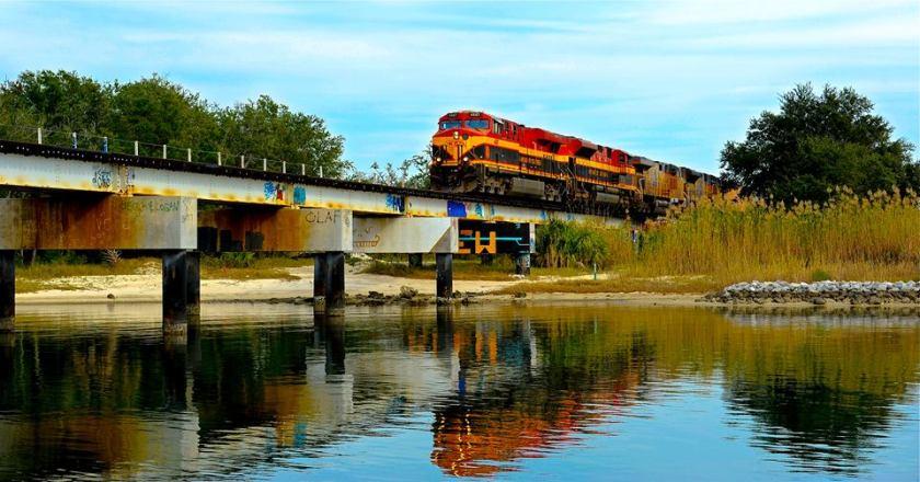 train & bridge, frank abbott