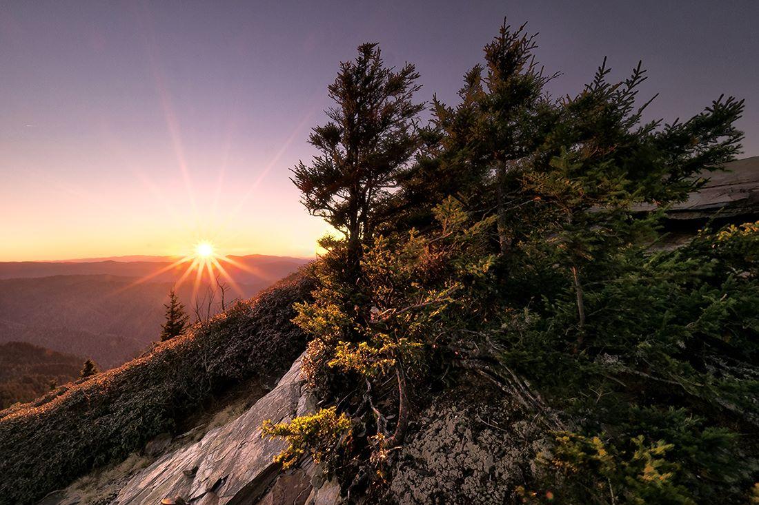 Winter Mountain Sunset