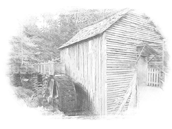 Cades Cove Mill SketchEffect